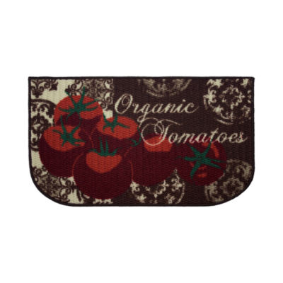 Structures Tomatoes Textured Loop Wedge Kitchen Mat
