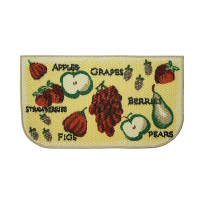 Structures Tossed Fruits Textured Loop Wedge Kitchen Mat