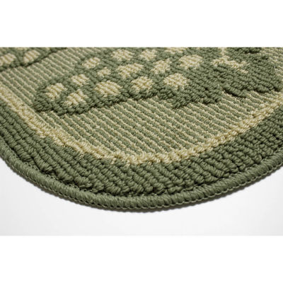 Structures Valley Grapes Textured Loop Wedge Kitchen Mat