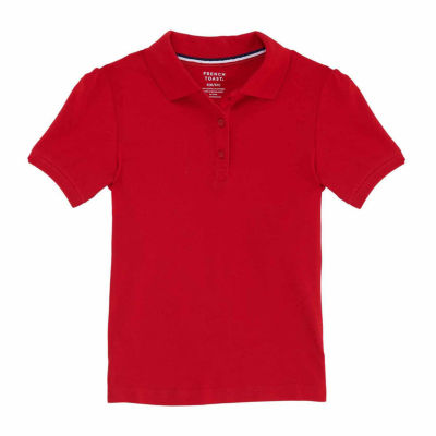 French Toast Short Sleeve Pique Polo - Big Kid Girls