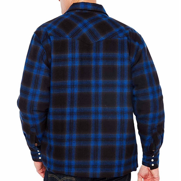 Ely Cattleman Long Sleeve Brawny Plaid Snap-Front Shirt-Tall
