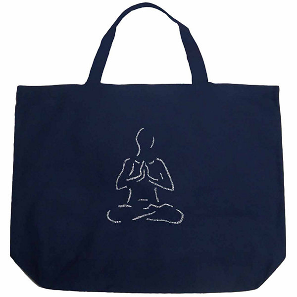 Los Angeles Pop Art Popular Yoga Poses Tote