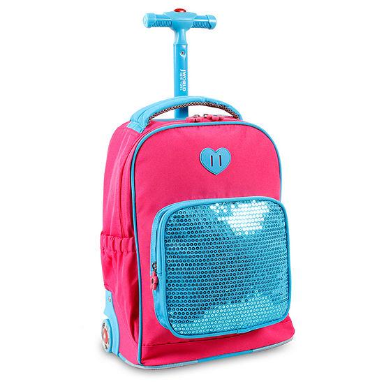 J World Sparkle Wheeled Backpack