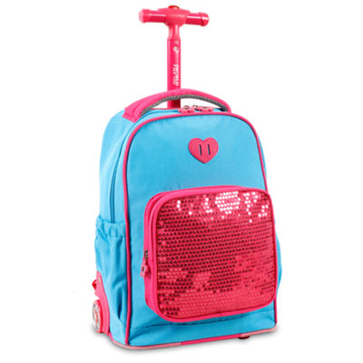 J World Sparkle Wheeled Backpack