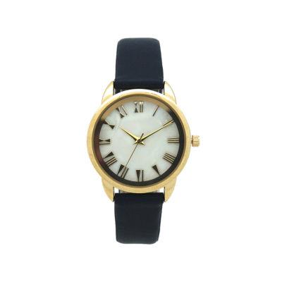Olivia Pratt Womens Blue Strap Watch-17385navy