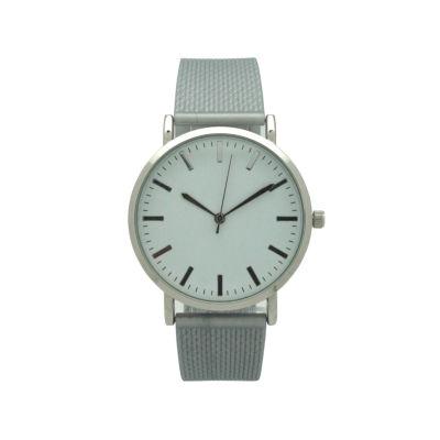 Olivia Pratt Womens Silver Tone Strap Watch-17597silver