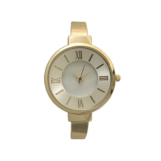 Olivia Pratt Womens Gold Tone Strap Watch-H10029gold