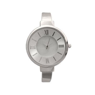 Olivia Pratt Womens Silver Tone Strap Watch-H10029silver