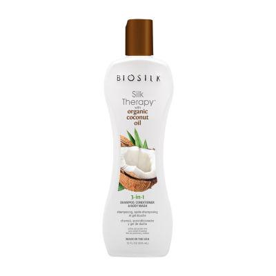 BioSilk Organic Coconut Oil 3-N-1 Shampoo - 12 oz.