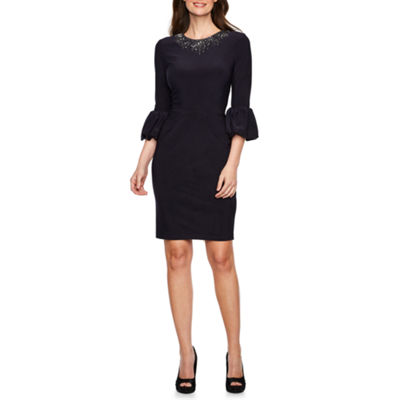 DJ Jaz 3/4 Puff Sleeve Sheath Dress
