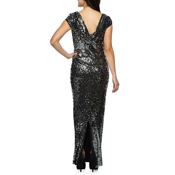 S. L. Fashions Sleeveless Evening Gown