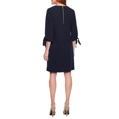 Liz Claiborne 3/4 Tie Sleeve Shift Dress