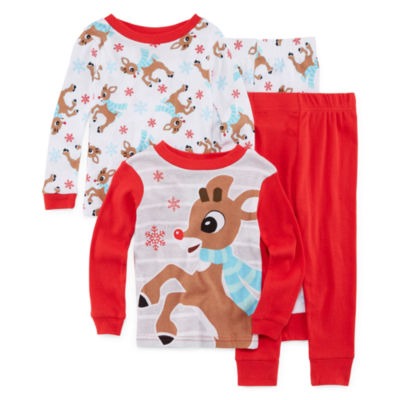 Rudolph The Red Nose Reindeer 4-pc. Pajama Set Boys