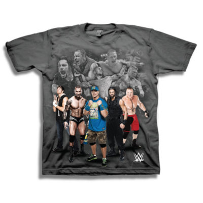 Wwe Short Sleeve Tees Boys Crew Neck Short Sleeve WWE Graphic T-Shirt