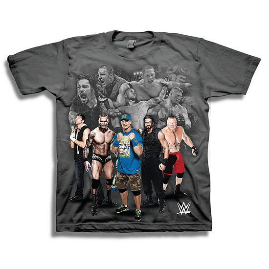 Wwe Short Sleeve Tees Boys Crew Neck Short Sleeve WWE Graphic T-Shirt - Preschool