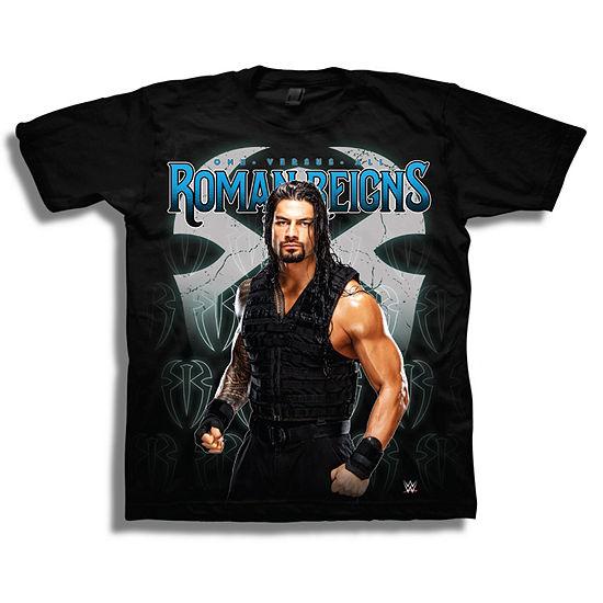 Wwe Short Sleeve Tees Boys Crew Neck Short Sleeve WWE Graphic T-Shirt - Big Kid