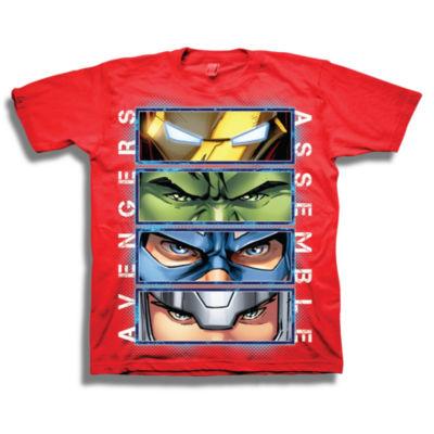 Marvel Short Sleeve Tees Marvel Graphic T-Shirt-Preschool Boys
