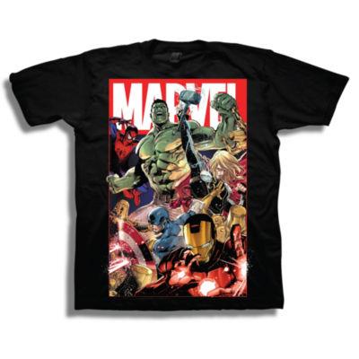 Marvel Short Sleeve Tees Marvel Graphic T-Shirt-Big Kid Boys