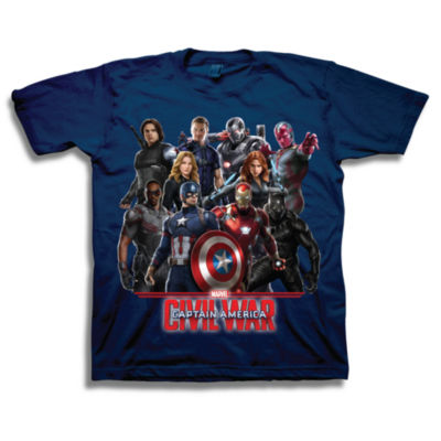Marvel Short Sleeve Tees Marvel Graphic T-Shirt-Big Kid Boys