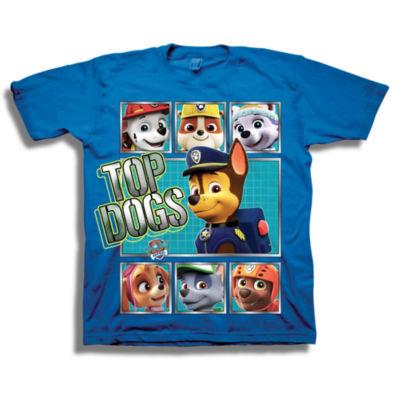 Boys Short Sleeve Tees Paw Patrol Graphic T-Shirt-Preschool Boys