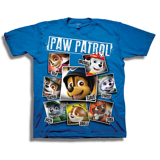 Boys Short Sleeve Tees Boys Crew Neck Short Sleeve Paw Patrol Graphic T-Shirt - Preschool