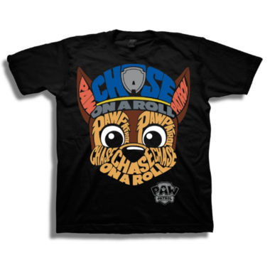Boys Short Sleeve Tees Paw Patrol Graphic T-Shirt-Preschool Boys