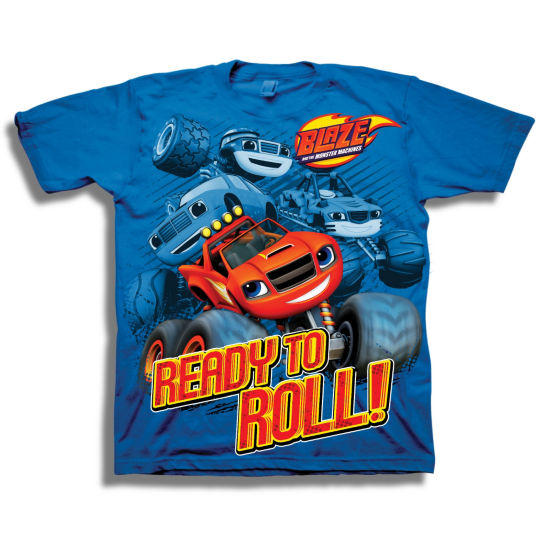 Boys Short Sleeve Tees Blaze and The Monster Machines Graphic T-Shirt-Preschool Boys