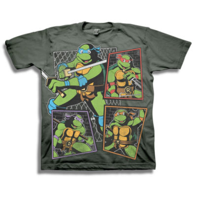 Tmnt Short Sleeve Tees Teenage Mutant Ninja Turtles Graphic T-Shirt-Big Kid Boys