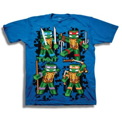 Short Sleeve Tees Teenage Mutant Ninja Turtles Graphic T-Shirt-Big Kid Boys