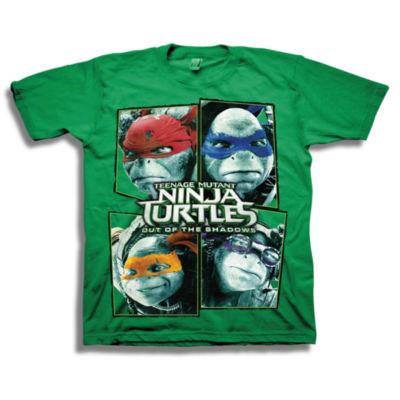 Short Sleeve Tees Teenage Mutant Ninja Turtles Graphic T-Shirt-Preschool Boys