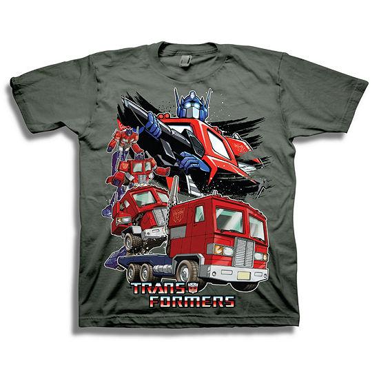 Transformers Short Sleeve Tees - Little Kid Boys Crew Neck Transformers Short Sleeve Graphic T-Shirt