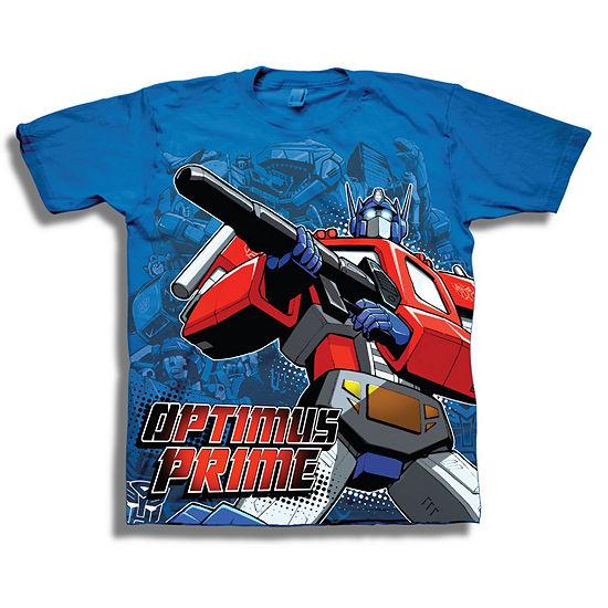 Transformers Short Sleeve Tees Boys Crew Neck Short Sleeve Transformers Graphic T-Shirt - Big Kid