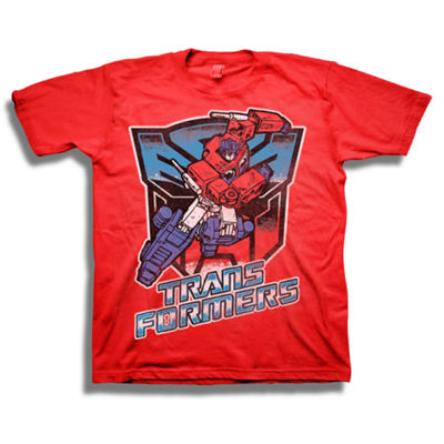 Transformers Short Sleeve Tees Transformers Graphic T-Shirt-Big Kid Boys
