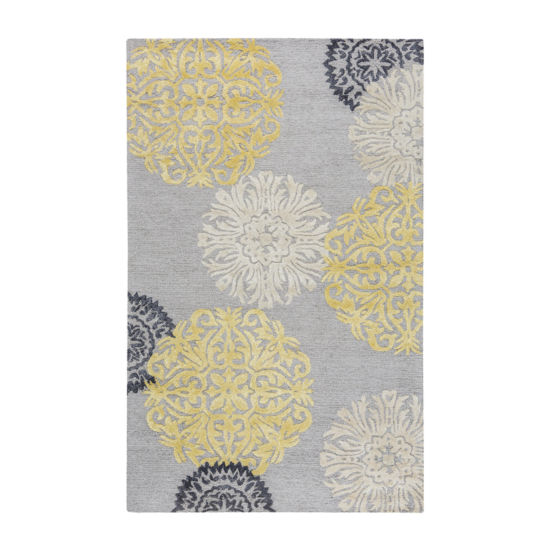 Rizzy Home Eden Harbor Collection Brooklyn Medallion Rectangular Rugs