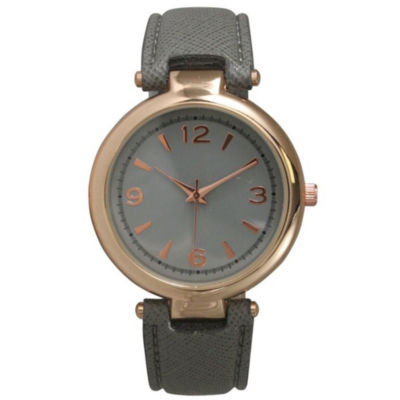 Olivia Pratt Womens Gray Strap Watch-152553grey