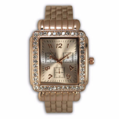 Olivia Pratt Womens Rose Goldtone Bracelet Watch-16645rosegold