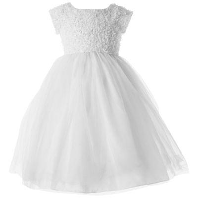 Keepsake Embellished Short Sleeve Tutu Dress - Preschool Girls