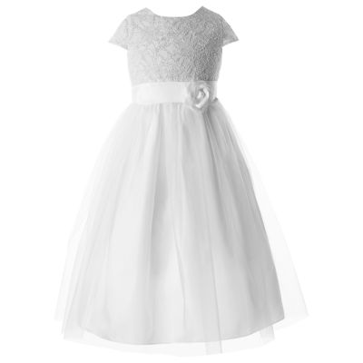Keepsake Embellished Short Sleeve Lace Sleeve A-Line Dress - Preschool Girls Plus