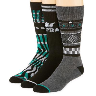 Aztec Print 3 Pair Graphic Crew Socks - Boys