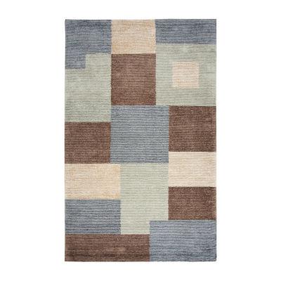 Rizzy Home Eden Harbor Collection Laila Color Block Rectangular Rugs