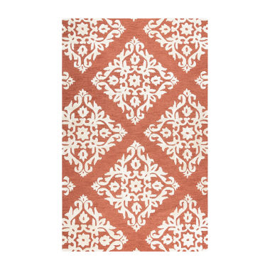 Rizzy Home Eden Harbor Collection Riley Damask Rectangular Rugs