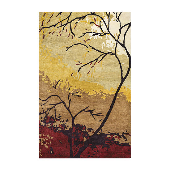 Rizzy Home Highland Collection Emerson Leaf Rugs