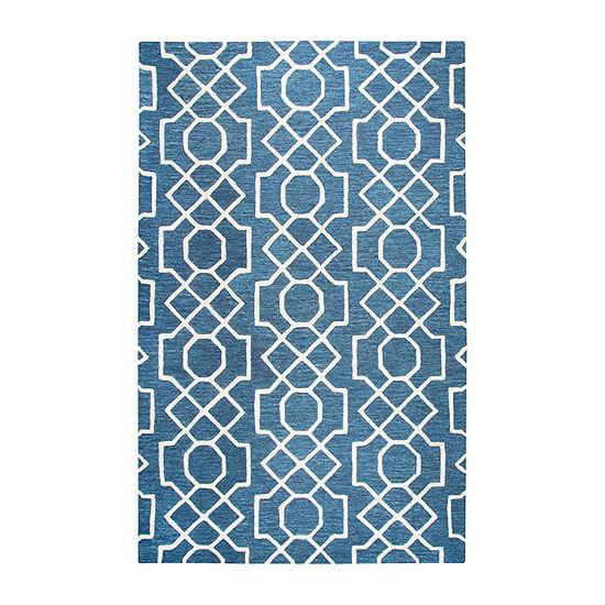 Rizzy Home Idyllic Collection Daisy Geometric Rectangular Rugs