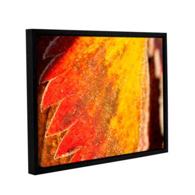 Brushstone Frosty Leaf Gallery Wrapped Floater-Framed Canvas