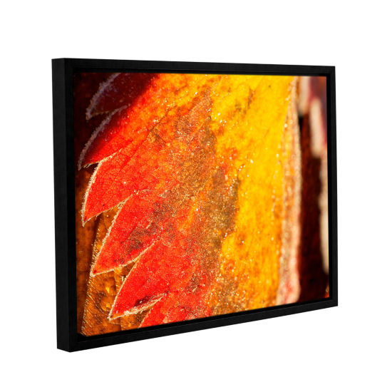 Brushstone Frosty Leaf Gallery Wrapped Floater-Framed Canvas