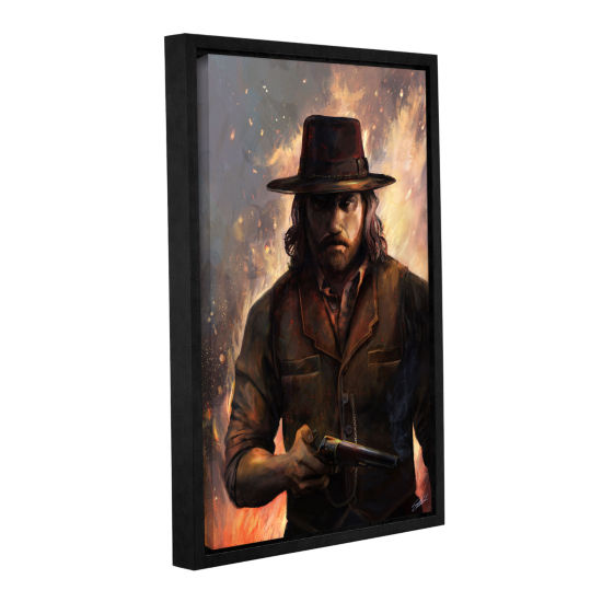 Brushstone Give'em Hell Gallery Wrapped Floater-Framed Canvas