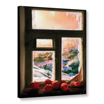 Brushstone Frosted Windowsill Gallery Wrapped Canvas
