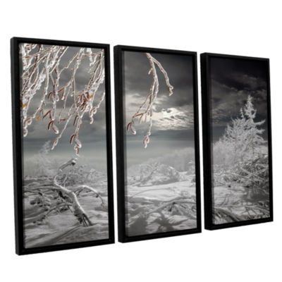 Brushstone Frozen Landscape 3-pc. Floater Framed Canvas Set