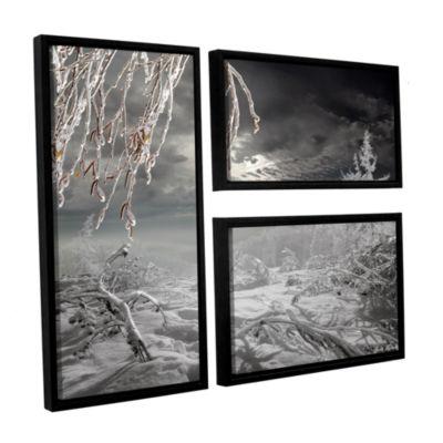 Brushstone Frozen Landscape 3-pc. Floater Framed Canvas Flag Set