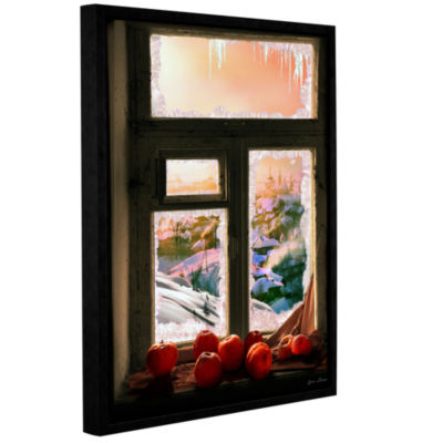 Brushstone Frosted Windowsill Gallery Wrapped Floater-Framed Canvas